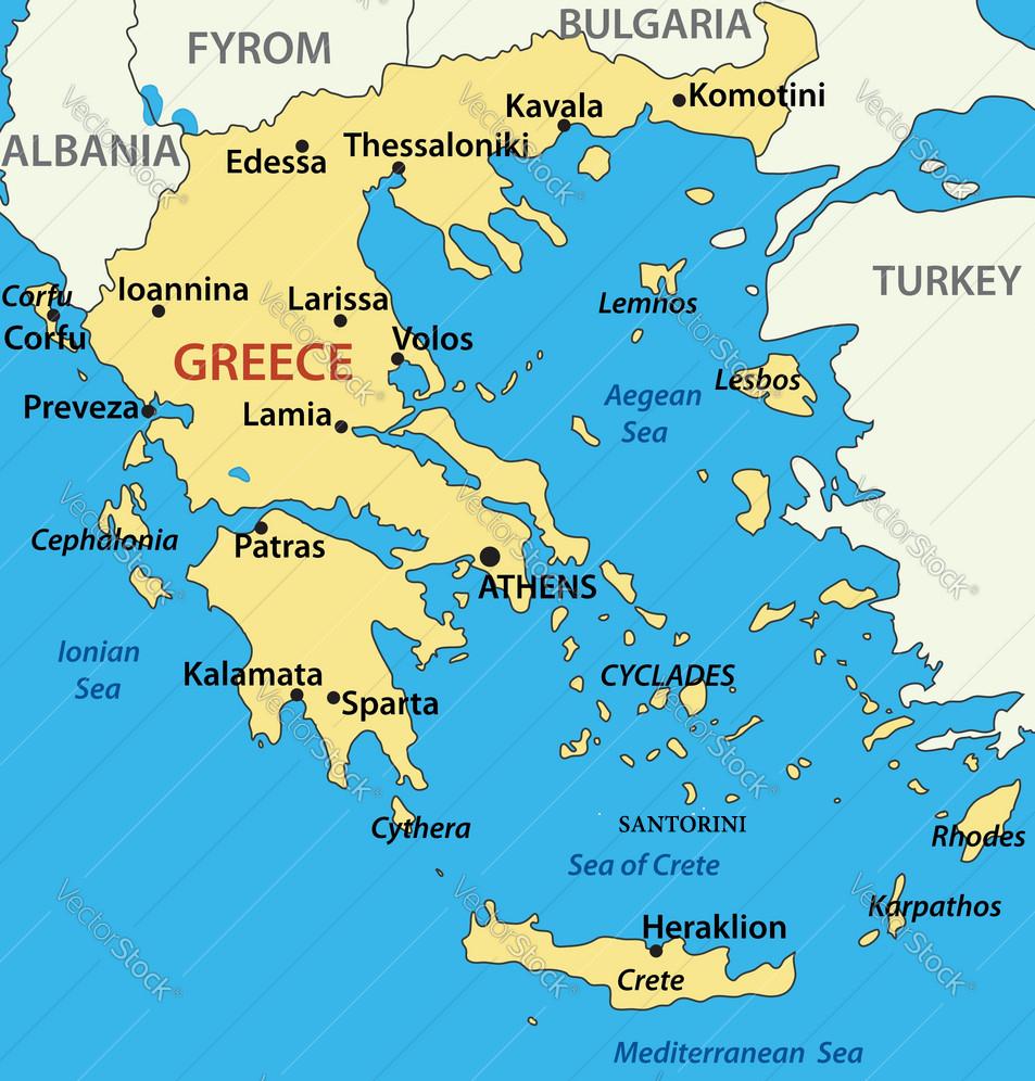 santorini maps